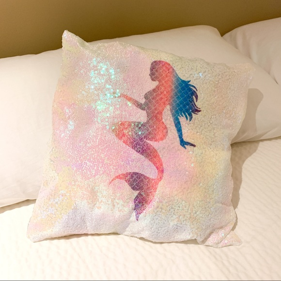 Hand Crafted Other - Sequined Mermaid Pillow Case